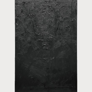 大野 不動(油画 学部4年) 黒い絵(モナリザ)