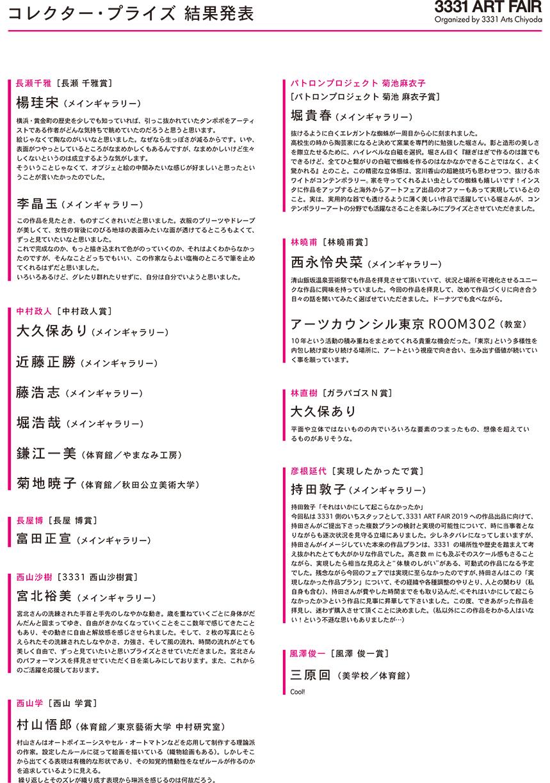 コレクター・プライズ、コレクター・ドネーション結果_No.4